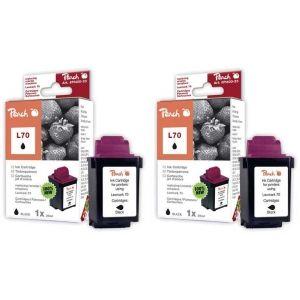 Peach  Doppelpack Druckköpfe schwarz kompatibel zu Lexmark Optra Color 40 N 7640162272551