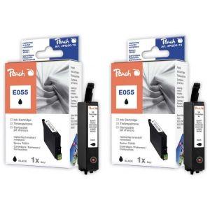 Peach  Doppelpack Tintenpatronen schwarz kompatibel zu Epson Stylus Photo RX 420 7640162272636