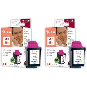 Peach  Doppelpack Tintenpatronen color kompatibel zu Lexmark Optra Color 40 7640162272674