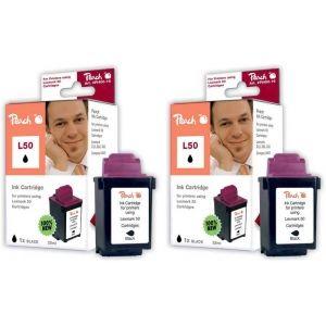 Peach  Doppelpack Druckköpfe schwarz kompatibel zu Lexmark Z 701 7640162272698
