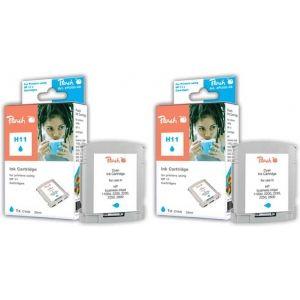 Peach  Doppelpack Tintenpatronen cyan kompatibel zu HP OfficeJet Pro K 850 7640162272728