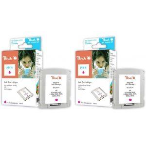 Peach  Doppelpack Tintenpatronen magenta kompatibel zu HP OfficeJet Pro K 850 7640162272735