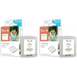 Peach  Doppelpack Tintenpatronen gelb kompatibel zu HP OfficeJet Pro K 850 7640162272742