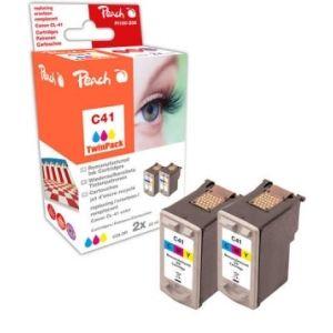 Peach  Doppelpack Druckköpfe color kompatibel zu Canon Pixma IP 2500