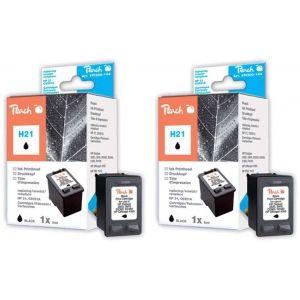 Peach  Doppelpack Druckköpfe schwarz kompatibel zu HP OfficeJet 4300 Series 7640162272858