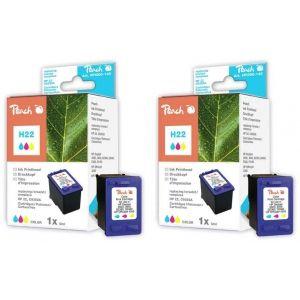 Peach  Doppelpack Druckköpfe color kompatibel zu HP OfficeJet 4300 Series 7640162272865