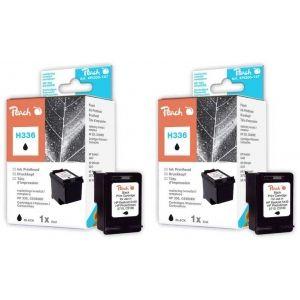 Peach  Doppelpack Druckköpfe schwarz kompatibel zu HP DeskJet 5400 Series 7640162272889