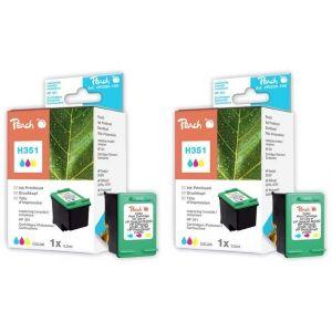 Peach  Doppelpack Druckköpfe color kompatibel zu HP OfficeJet J 5780 7640162272919