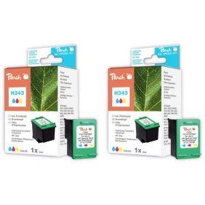 Peach  Doppelpack Druckköpfe color kompatibel zu HP OfficeJet 6210 V 7640162272926