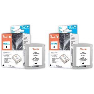 Peach  Doppelpack Tintenpatronen schwarz kompatibel zu HP OfficeJet Pro K 550 DTN 7640162272933