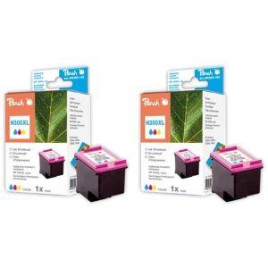 Peach  Doppelpack Druckköpfe color kompatibel zu HP DeskJet F 4213 7640162272971