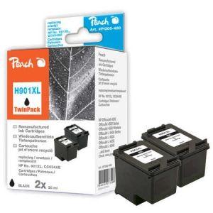 Peach  Doppelpack Druckköpfe schwarz kompatibel zu HP OfficeJet J 4540 7640162273008