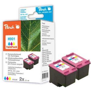 Peach  Doppelpack Druckköpfe color kompatibel zu HP OfficeJet J 4540 7640162273015