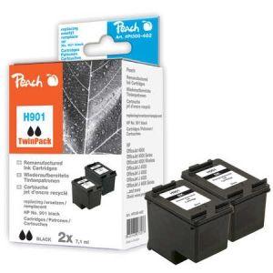 Peach  Doppelpack Druckköpfe schwarz kompatibel zu HP OfficeJet J 4540 7640162273077