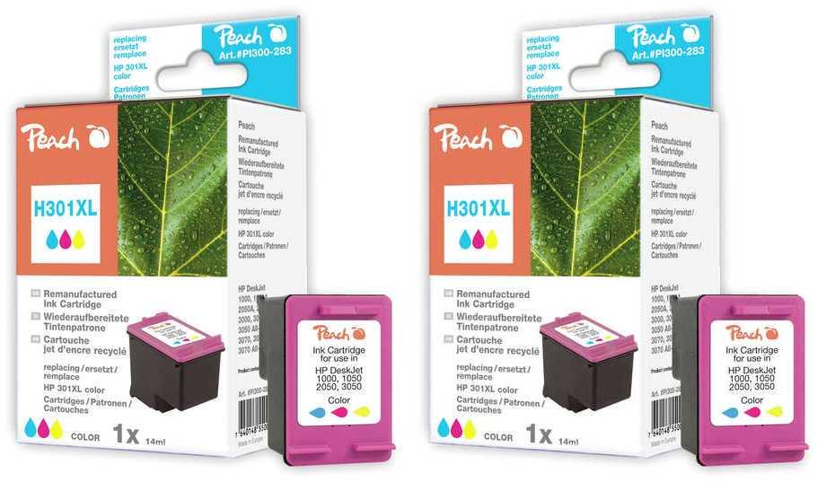 Peach  Doppelpack Druckköpfe color kompatibel zu HP DeskJet 2050