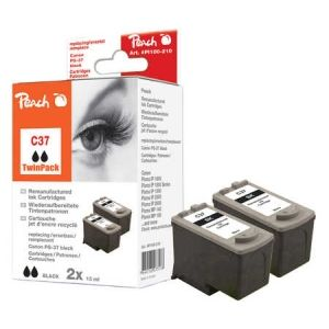 Peach  Doppelpack Druckköpfe schwarz kompatibel zu Canon Pixma IP 2500