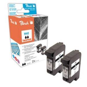 Peach  Doppelpack Druckköpfe schwarz kompatibel zu HP Copyjet 7640162273206