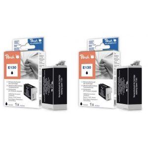 Peach  Doppelpack Tintenpatronen schwarz kompatibel zu Epson Stylus SX 525 WD