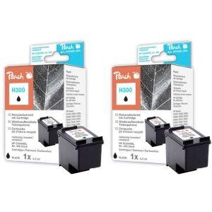 Peach  Doppelpack Druckköpfe schwarz kompatibel zu HP DeskJet F 4213 7640162273350