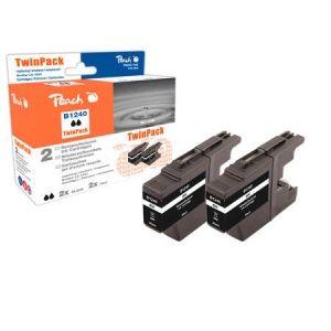 Peach  Doppelpack Tintenpatronen schwarz kompatibel zu Brother MFCJ 6510 DW 7640162273398