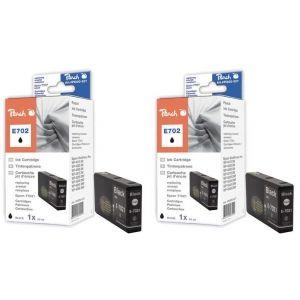 Peach  Doppelpack Tintenpatronen schwarz kompatibel zu Epson WorkForce Pro WP-4520 7640162273411