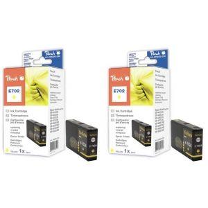 Peach  Doppelpack Tintenpatronen gelb kompatibel zu Epson WorkForce Pro WP-4520 7640162273442