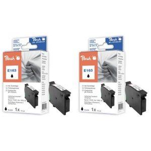 Peach  Doppelpack Tintenpatronen schwarz kompatibel zu Epson WorkForce WF-2660 DWF 7640162273466