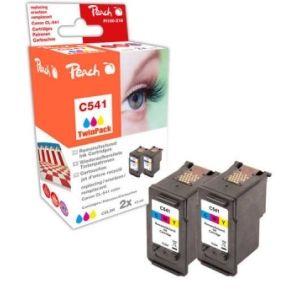 Peach  Doppelpack Druckköpfe color kompatibel zu Canon Pixma MG 2250 7640162273480