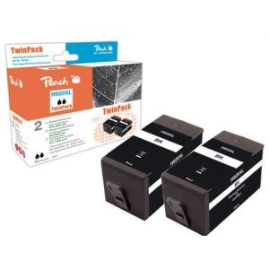 Peach  TwinPack Tintenpatrone schwarz HC kompatibel zu HP OfficeJet 6500 Wireless 7640162274357