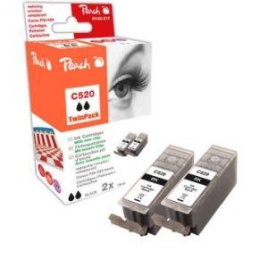 Peach  Doppelpack Tintenpatronen schwarz kompatibel zu Canon Pixma MP 620 7640162274388