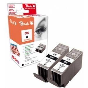 Peach  Doppelpack Tintenpatronen schwarz kompatibel zu Canon Pixma IP 4200 7640162274401
